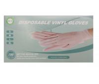Перчатки виниловые неопудренные р.L 100 штук (50 пар)