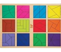 """Головоломка """"Сложи квадрат"""", 3 уровень"""