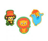"""Набор игрушек для ванны """"Цирк"""": наклейки из EVA, 3 шт."""