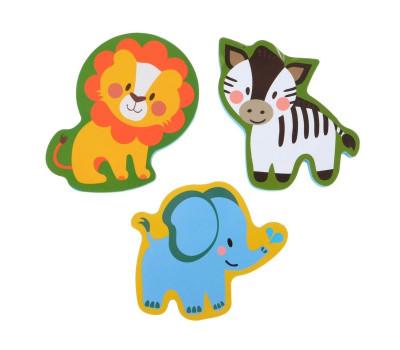 Набор игрушек для ванны «Зоопарк»: наклейки из EVA, 3 шт.