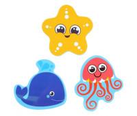 """Набор игрушек для ванны """"Морские жители"""" наклейки из EVA, 3 шт."""
