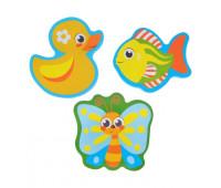 Набор игрушек для ванны «В деревне»: наклейки из EVA, 3 шт.
