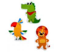 """Набор игрушек для ванны """"Африка"""": пазлы-наклейки из EVA, 9 элементов"""