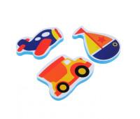 Набор игрушек для ванны «Транспорт»: наклейки из EVA, 3 шт.