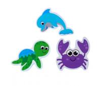 Набор игрушек для ванны «Морской мир»: наклейки из EVA, 3 шт.