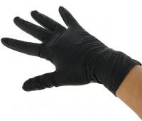 Перчатки нитриловые нестерил неопудр, черные, размер М