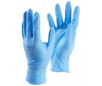 Перчатки нитриловые нестерил неопудр текстур Benovy M, голубые