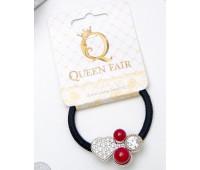 "Резинка для волос ""Жемчужина желаний"" 4х3см сердце Queen Fair"