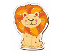 Лев-шнуровка цветная