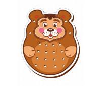 Медведь-шнуровка цветная